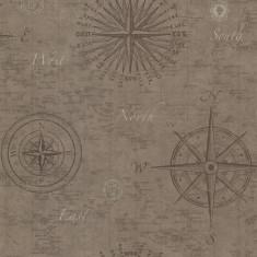 Rola tapet Navigate Vintage Compass 52 cm x 10 m