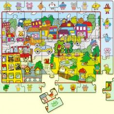 Puzzle din lemn cu animale, 35 piese Vilac