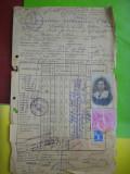 HOPCT DOCUMENT VECHI NR 119 FISCALIZAT/INSTITUTUL DE FETE MOTEANU BUCURESTI 1936, Romania 1900 - 1950, Documente