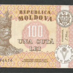 MOLDOVA  100  LEI  1992   [5]   P- 15a  ,  VF+