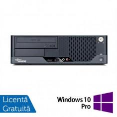 Calculator Refurbished FUJITSU SIEMENS Esprimo E7935 SFF, Intel Core 2 Duo E8500 3.16 GHz, 4 GB DDR2, 250GB SATA, DVD-ROM + Windows 10 Pro - Monitor LCD