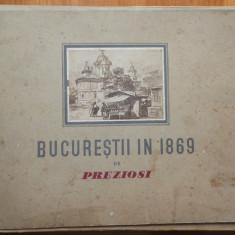 Preziosi ; Bucurestii in 1869, 15 cromolitografii interbelice - Litografie