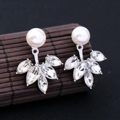 Cercei cu imitatie de perle - Cercei placati cu aur