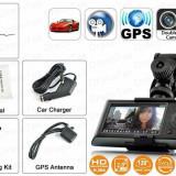 Camera auto duala dedicata scolilor de soferi cu GPS DCV01 - Camera video auto