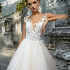 Rochie de mireasă milanova, Marime: 36, Culoare: Alb