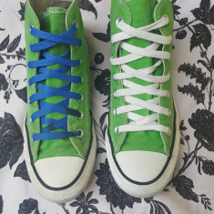 Converse All Star originali, high top, nr.36-22, 5 cm. - Tenisi dama Converse, Culoare: Verde, Textil
