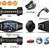 Camera auto duala dedicata scolilor de soferi cu GPS DCV07 - Camera video auto