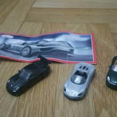K220 Kinder - set 3 masinute Porsche + BPZ