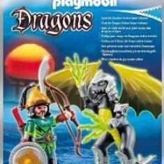 Playmobil Figurina Dragonul luminii cu luptator - Vehicul
