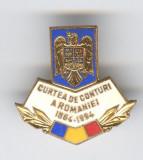 CURTEA  de CONTURI  a ROMANIEI 1864-1994, Insigna email