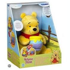 Jucarie de plus Tomy Winnie The Pooh cu vas de miere - Jucarii plus