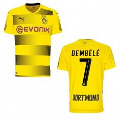 Tricou fotbal Borussia Dortmund, 7 DEMBELE - Tricou echipa fotbal, Marime: M, XL, XS, XXL, Culoare: Din imagine, De club, Maneca scurta