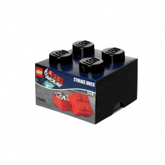 Cutie Lego de depozitare, negru - Cutie depozitare LEGO