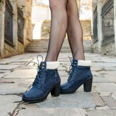 Botine dama Lazio albastre, Culoare: Albastru, Marime: 39