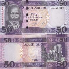 Sudanul de Sud 50 Pounds 2017 UNC - bancnota africa