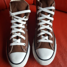 Converse All Star originali, high top, nr.37, 5-24 cm. - Tenisi dama Converse, Culoare: Maro, Textil