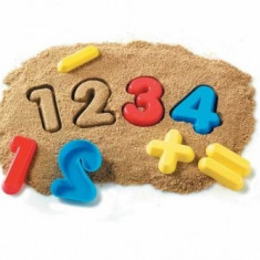 Set matrite de numere colorate din plastic