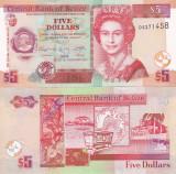 Belize 5 Dollars 2011 UNC
