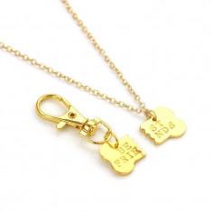 Pandantiv cu breloc set pentru cuplu sau prieteni best friends best friend gold