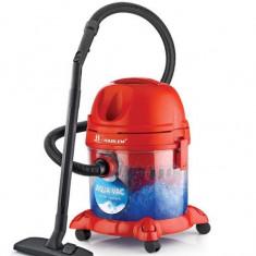 Aspirator cu filtrare prin apa Harlem® AquaVac, Putere 2200W, Aspirare umeda si uscata Sistem filtrare a apei, Functie umidificator