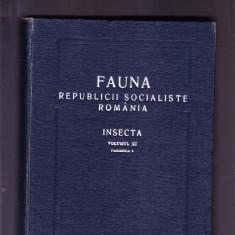 FAUNA REPUBLICII SOCIALISTE ROMANIA -INSECTA -VOL 11 -FASCICOLA 8