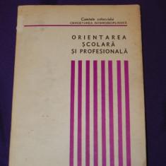 Orientarea scolara si profesionala. Cercetare interdicisplinara (f3214