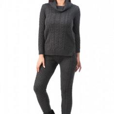 V548-181 Compleu gros din lana, cu pulover si pantaloni lungi - Top dama, Marime: M/L