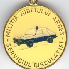 1980 DACIA - MILITIA RUTIERA Serviciul Circulatie - Breloc de colectie Romania