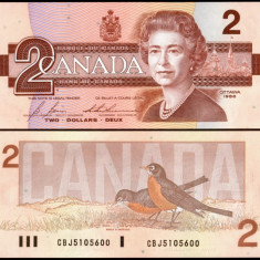 Canada 1986 - 2 dollars UNC - bancnota america