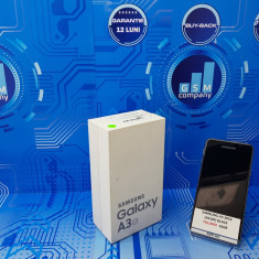 Samsung Galaxy A3 2016 A310F Black FACTURA+GARANTIE Impecabil Fullbox - Telefon Samsung, Neblocat, Single SIM, 1.5 GB
