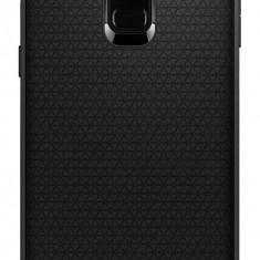 Husa Spigen Samsung Galaxy A8+ 2018 negru mat Liquid Air - Husa Telefon SPIGEN, Universala, Silicon, Fara snur