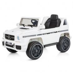 Masinuta electrica Chipolino SUV Mercedes Benz G63 white - Masinuta electrica copii
