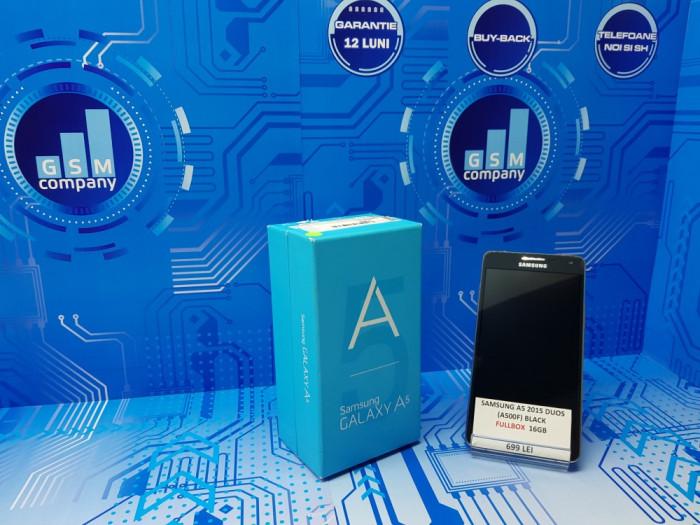 Samsung Galaxy A5 2015 A500F Duos Black FACTURA+GARANTIE Impecabil