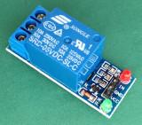 Modul cu 1 releu 5V, relay, relee, Arduino, model: bec rosu-verde (RE130)