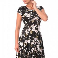 X531-1122 Rochie clos scurta, cu model floral - Rochie de club, Marime: S