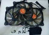 Ventilatoare PC 120 mm Raijintek AURA 12 RGB LED set 3 buc - poze reale, Pentru carcase