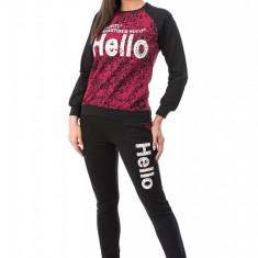 V546-1 Compleu sport ce include bluza cu imprimeu si pantaloni lungi - Top dama, Marime: S