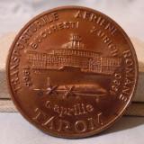 AVIATIE TAROM - Transporturile aeriene Romane BUCURESTI ZURICH, medalie in cutie