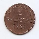 Germania 2 Pfenning 1861 - Ludwig II, Cupru, 20 mm KM-857, Europa