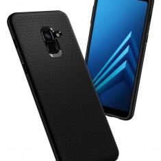 Husa Spigen Samsung Galaxy A8 2018 negru mat Liquid Air - Husa Telefon SPIGEN, Universala, Silicon, Fara snur