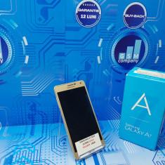 Samsung Galaxy A7 2015 A700F Gold FACTURA+GARANTIE Impecabil Fullbox - Telefon Samsung, Auriu, Neblocat, Single SIM