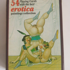 Set carti de joc erotice Erotica Paintings Collection, sex arta, set complet - Carti poker