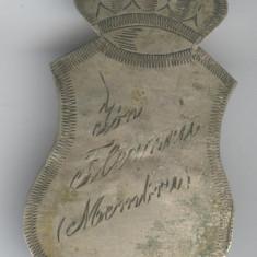 Insigna Regala Romania 1930 - Intrunire Organizatie - gravat nume participant