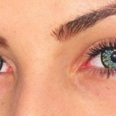 Lentile de contact colorate spectaculoase ILLUSION, poze reale, Albastru - Verde