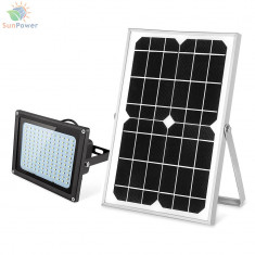 Proiector solar curte 132 LED IP65 10W 620lm
