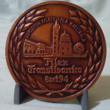 Placheta FILEX TRANSILVANIA - BISTRITA medalie expozitia filatelica nationala