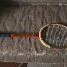 "RACHETĂ TENIS ""REGHIN"" LEMN VINTAGE - Racheta tenis de camp"