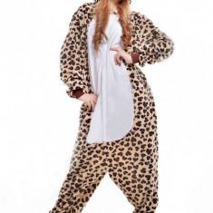 PJM29-99 Pijama intreaga kigurumi, model leopard - Pijamale dama, Marime: S, M, S/M