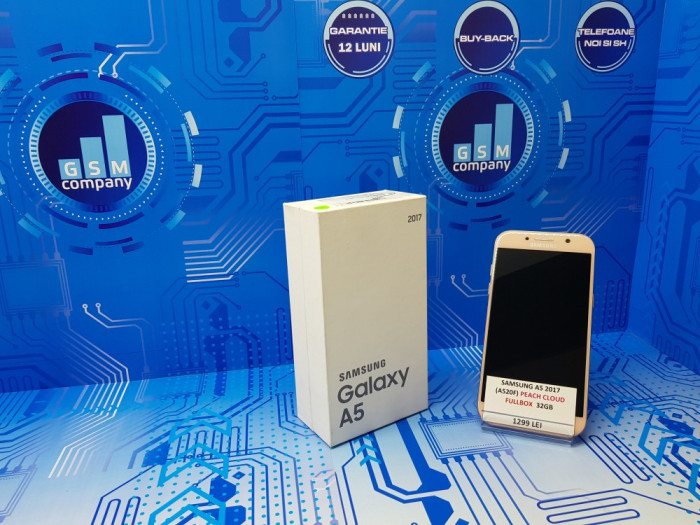Samsung Galaxy A5 2017 A520F Peach FACTURA+GARANTIE Impecabil Fullbo foto mare