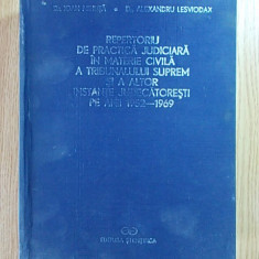 REPERTORIU DE PRACTICA JUDICIARA IN MATERIE CIVILA 1952-1969 - Carte Drept civil